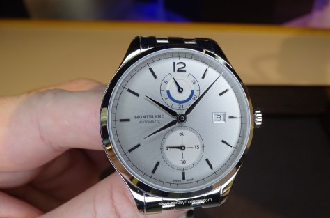 Montblanc Chronometrie Dual Time acero - frontal