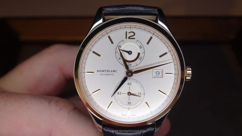 Montblanc Chronometrie Dual Time oro - frontal