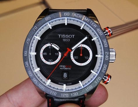 Tissot PRS 516 Automatic Chronograph rojo - frontal