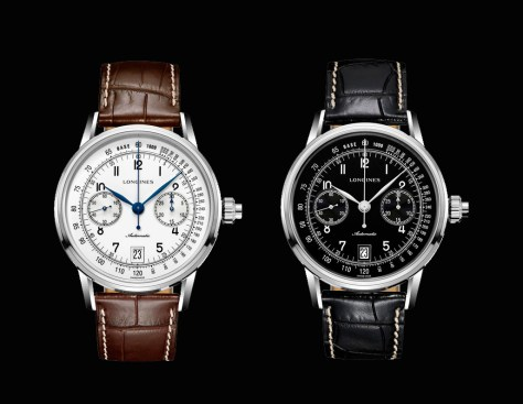 The Longines Column-Wheel Single Push-Piece Chronograph - pareja