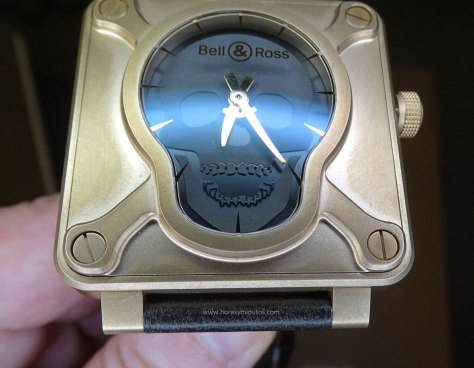 Bell and Ross BR 01 Skull Bronze frontal 1