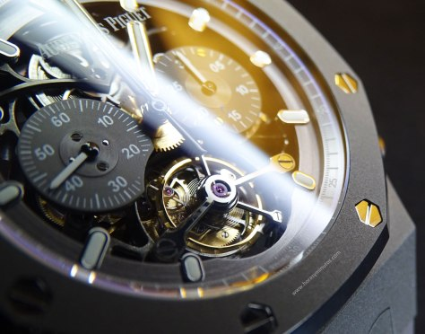 Audemars Piguet Royal Oak Tourbillon Chronograph detalle del tourbillon Horas y Minutos