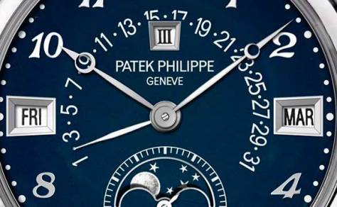 Patek Philippe 5016A -010 Only Watch 2015 detalle esfera