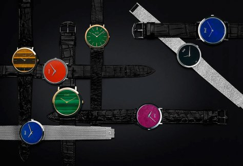 Diversos relojes ultraplanos producidos por Piaget