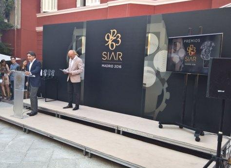 Carlos Alonso, fundador del SIAR, durante la entrega de premios