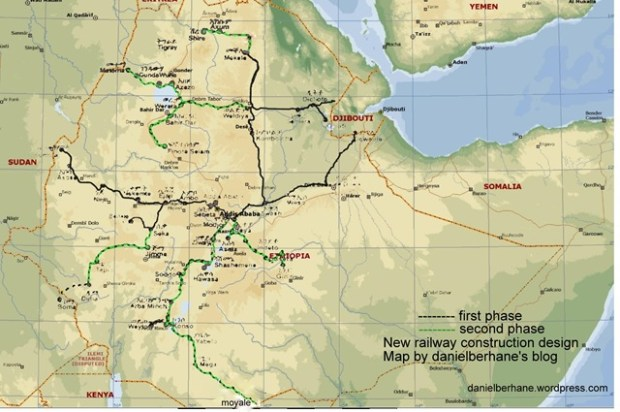 Ethiopia railway design phase 1 and 2