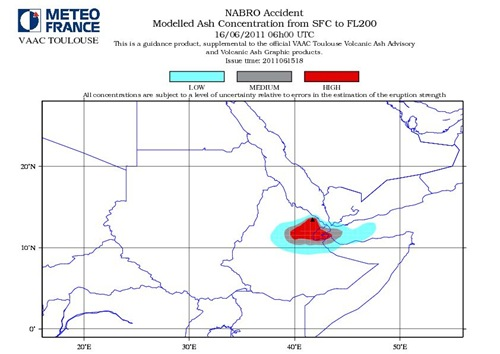 Nabro Volcano Modelled Ash Consentration SFC to FL200 June 16-2011_06GMT