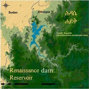 Grand Ethiopian Renaissance dam (Millennium dam) reservoir