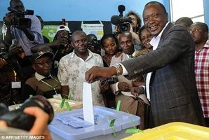 Kenyan new President Uhuru Kenyata