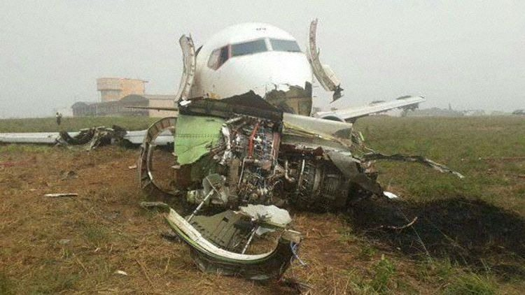 Photo - Ethiopian airlines cargo plane crashed in Accra