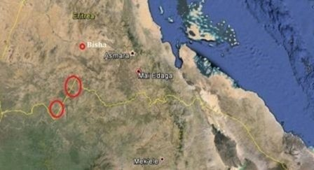 Map - Ethiopia, Eritrea military clash