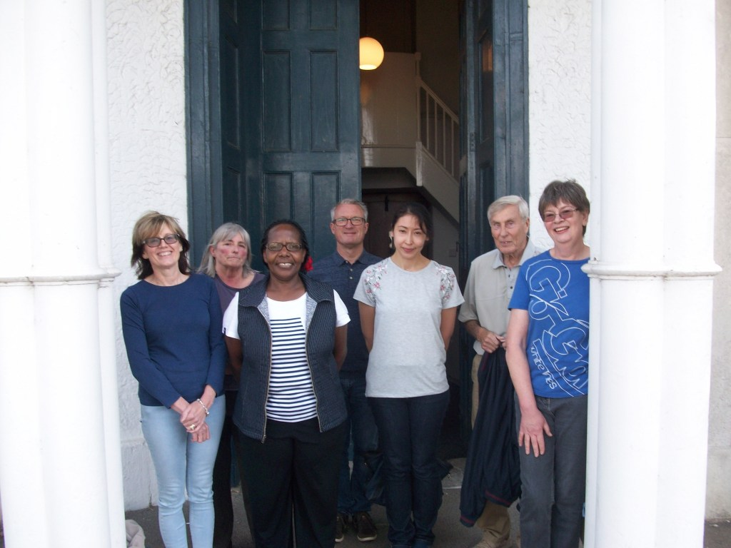 The photo shows some of the ringers who took part: L - R: Rosemarie Edwards, Terry Thornhill, Rose Kaziro, Steve Sampson, Michelle Long, John Stephenson and Jane Harper.