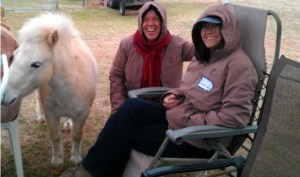 Elijah, Stina Herberg, Susan Smith at Spirit Horse Ranch, LIberty Foundations clinic, March 2013
