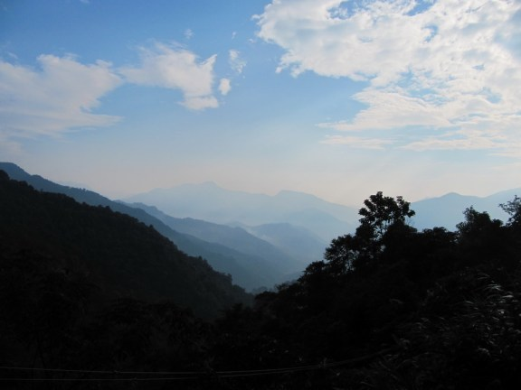 mountains in border region between china and laos
