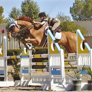 Sydney Luzicka and her thoroughbred mare All That Glitters.