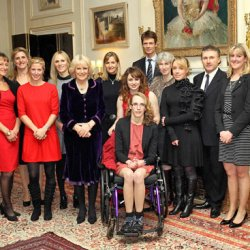 Camilla hosts reception for 2012 equestrians