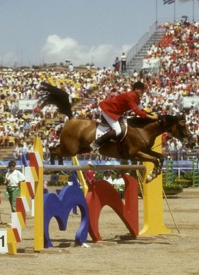 Piet Raymakers and Ratina Z on their way to individual silver and team gold for The Netherlands at the Barcelona Olympic Games in 1992.