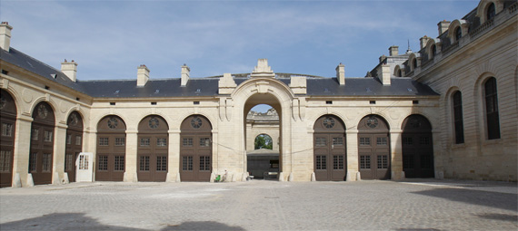 The Courtyard of the Cour des Remises, which took two years to restore.