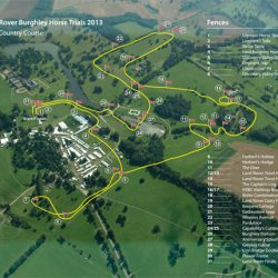 The 2013 Burghley course.