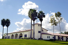 The original Kellogg stables remain an iconic part of Cal Poly Pomona's campus.