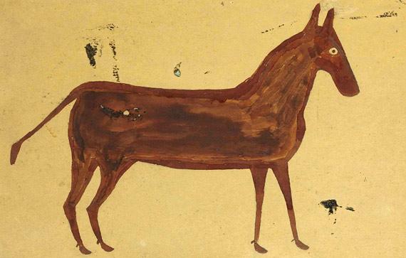 Brown Mule, by Bill Traylor