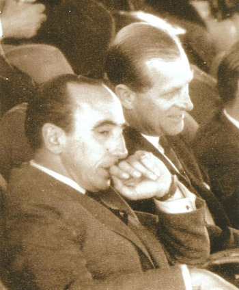 Pedro Oscar Mayorga (left), with Prince Philip, FEI President from 1964 to 1986.