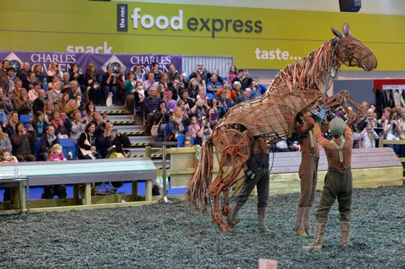 Joey from War Horse wowed the crowds at BETA International, which finished on Tuesday.