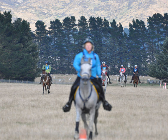 Linda Harmon and MF El Marees lead the CEI 3* 160km field into the end of a loop.