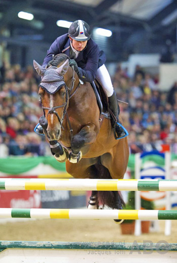 Jamie Kermond in action at Neumunster, Germany last month with Quite Cassini. Kermond will compete at the Longines FEI World Cup Jumping Final in Lyon, France next month following his victory in the Australian League.