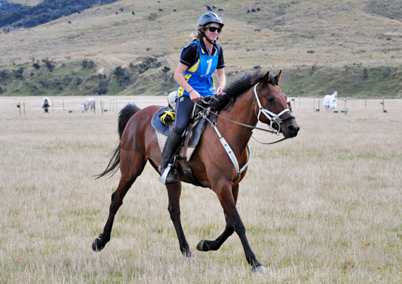 South Island Championships 160km winner Suzie Latta and Tkiwa, who have just been added to New Zealand's 2014 'B' Endurance Squad.