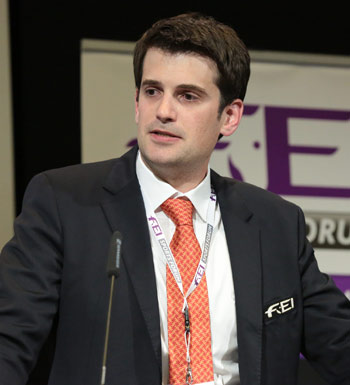 FEI IT Manager Gaspard Dufour addressed the forum during the Online Entry System session.