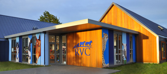Entry area of Rangiora Vet Centre's new clinic.