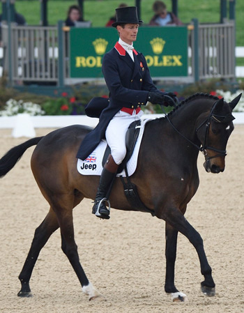 William Fox-Pitt and Bay My Hero are second going into the cross-country phase.
