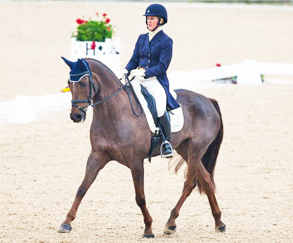 Alison Springer (USA) and Arthur lead after the dressage at the Kentucky Horse Trials, scoring the only sub-40 mark to take the overnight lead.