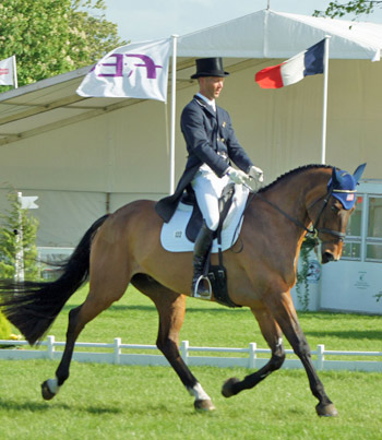 Clark Montgomery and Loughan Glen lead after the dressage at Badminton.