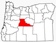 Location of Deschutes County in Oregon.