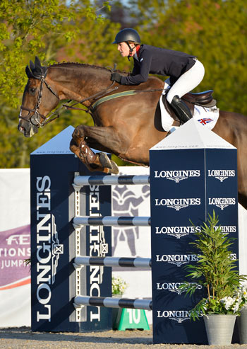 Harriet Nuttall and A Touch of Imperious in the Nations Cup competition in Odense.