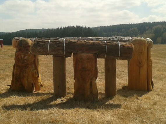 One of the fences on the Chris Lever-designed course at Taupo.