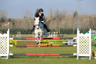 Clarke Johnstone and Balmoral Sensation on their way to winning the NZ CCI3* National Championships at Taupo.