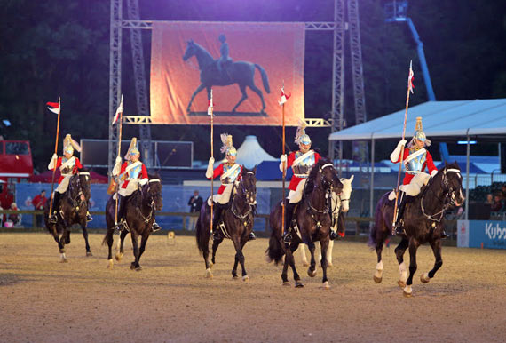 The Household Cavalry perform their Musical Ride.