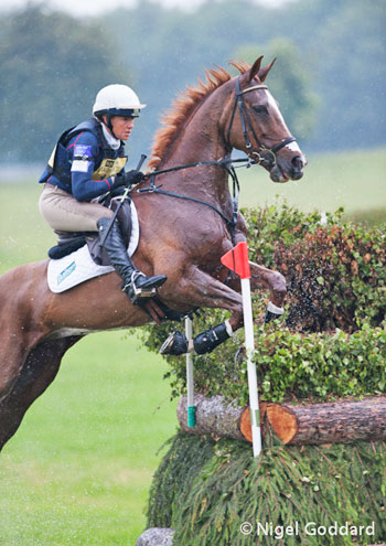 Aoife Clark and Fenya's Elegance on the cross-country.