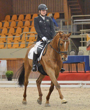 Anthea Dixon and Doncartier in action in Belgium earlier this year.
