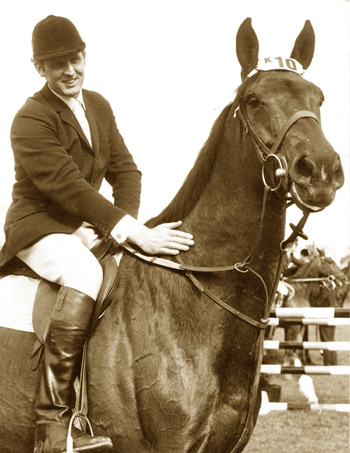 Legendary Irish Olympic event rider and championship course designer Tommy Brennan, pictured here with his horse of a lifetime, Kilkenny.