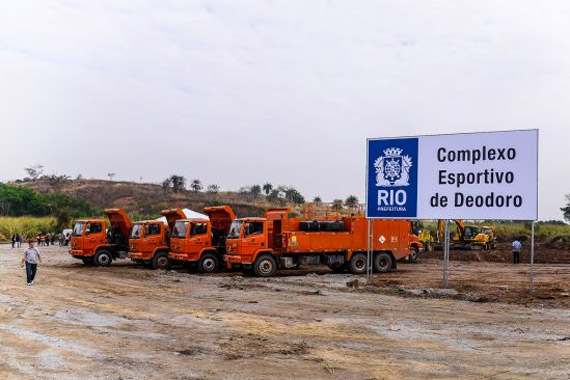 The upgrade to Deodoro's facilities is under way, with work on the equestrian centre for the 2016 Olympics starting in August.