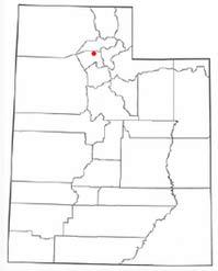 Location of Syracuse in Utah.
