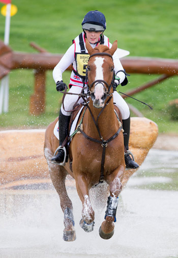 Anna Wilks and Touch of Pleasure are leading the Junior European Eventing Championships.