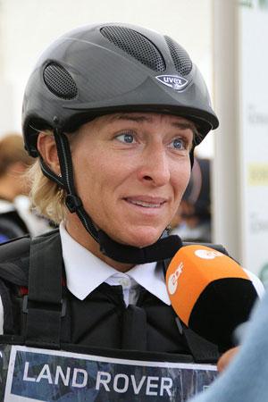Ingrid Klimke (Germany) is in 21st lpace on FRH Escada JS.