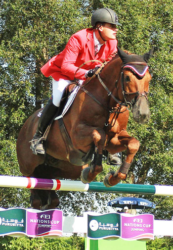 Joerg Oppermann and Che Guevara jumped double-clear to help Germany to victory in the Furusiyya FEI Nations Cup Jumping 2014 Europe Division 2 series in Bratislava.