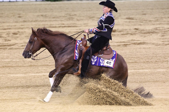 British team member Francesca Sternberg and Ten Reasons finished 16th in the second reining qualifier.
