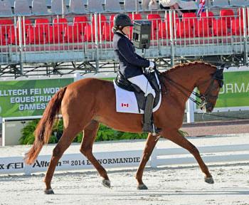 Grade II silver medalist Lauren Barwick (Canada) and Off to Paris.